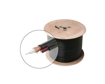 500ft RG59 + 18/2 CCTV Siamese Cable CM CL3 cULus Black Spool