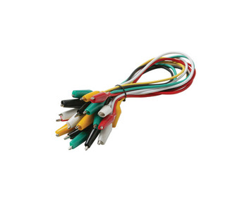 Alligator Clip Set 1in 10-Lead 24 AWG Color Coded 1ft