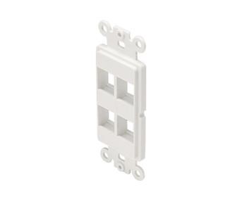 Keystone 4-Cavity Decorator Insert White