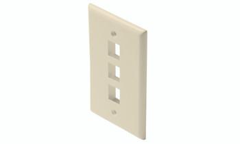 Keystone 3-Cavity Wall Plate Ivory 10 Per Bag
