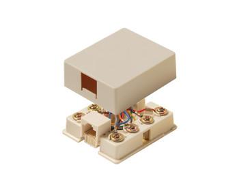 Telephone 8C Surface Jack Ivory