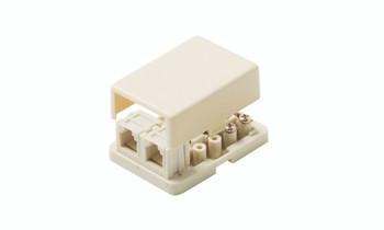Telephone 4C Dual Surface Jack Ivory
