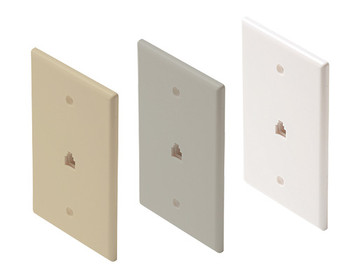 Telephone 4C Mid-Sized Wall Plate White