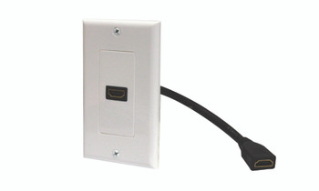HDMI 1-Port Pigtail Decorator Wall Plate White