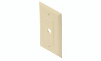 TV Wall Plate 1-Hole Decorator Ivory