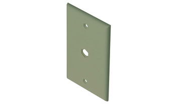 TV Wall Plate 1-Hole Brown