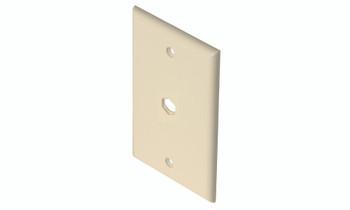 TV Wall Plate 1-Hole Ivory
