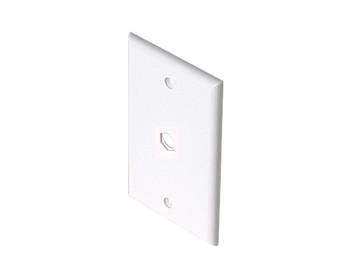TV Wall Plate 1-Hole White