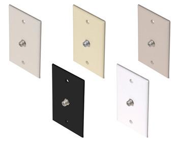 TV Wall Plate 1-F81 Black