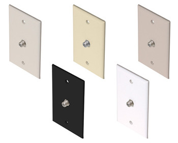 TV Wall Plate 1-F81 White