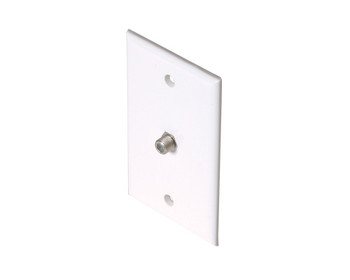 TV Wall Plate 1-F81 White 10 Pack