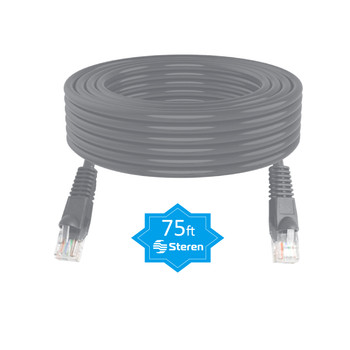 75ft Grey Molded Cat 6 UTP Patch Cord