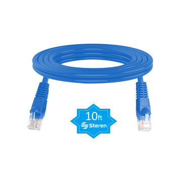 10ft Cat6 Patch Cord Snagless UTP cULus Molded Blue