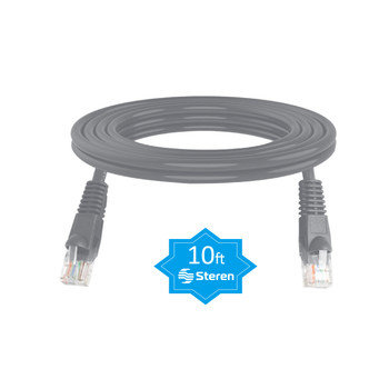 10ft Cat6 UTP Molded Patch Cord Grey