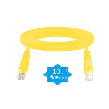 10ft Cat6 UTP Molded Patch Cord Yellow