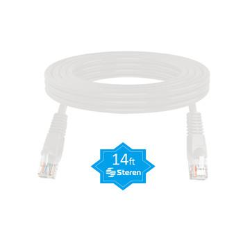 14ft Cat5e UTP Molded Patch Cord White