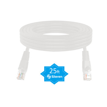 25ft Cat5e Patch Cord Snagless UTP cULus Molded White