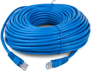 100ft Cat5e Patch Cord Snagless UTP cULus Molded Blue