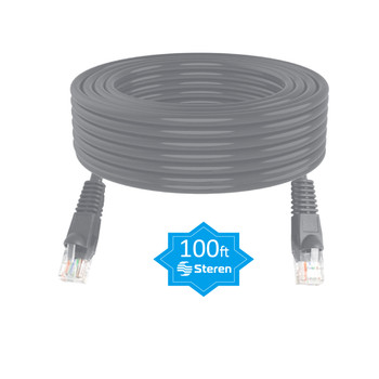 100ft Cat6 Patch Cord Snagless UTP cULus Molded Gray