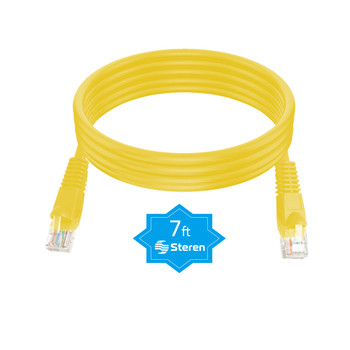 7ft Cat5e UTP Molded Patch Cord Yellow