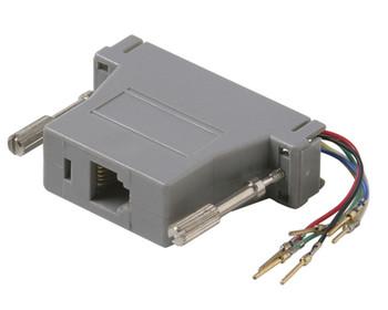 DB25 Male to 8x8 Modular Adapter Plastic Shell Gray