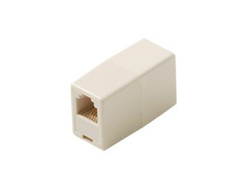 Modular 6C Telephone Coupler Voice Ivory