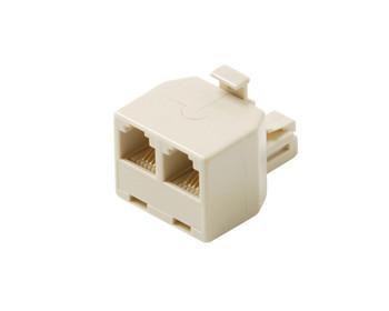 Modular 8C Data T Adapter Ivory