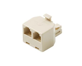 Modular 4C Telephone T-Adapter Ivory