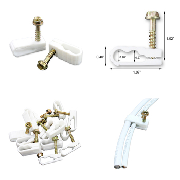 Dual Coax Steren Grip-Clip White 100 per bag