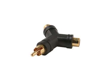 RCA Plug to 2-RCA Jack Y Adapter