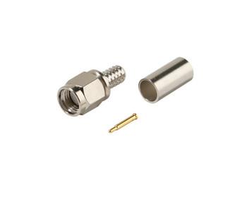 SMA Plug Crimp RG58A 3pc Connector