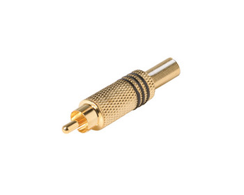RCA Plug Solder RG59 Gold Coaxial Connector