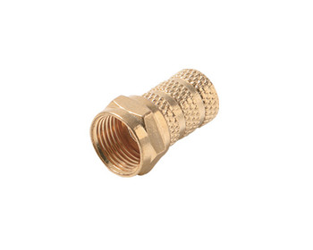Twist On Connector RG59 Gold Connector 25 Per Bag
