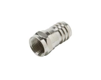 F Crimp Plug RG6 Long Barrel Connector