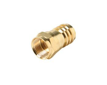 F Hex Crimp Connector RG59 Gold