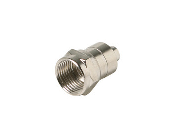 F Crimp Plug RG6 with Attached Ring Connector