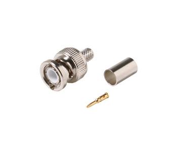 BNC Crimp Plug RG6 3pc Connector