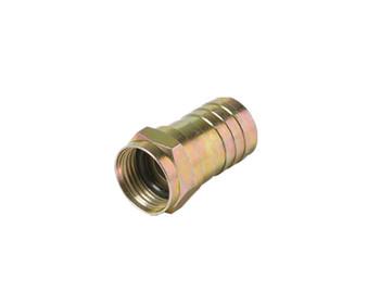 F Crimp Plug RG6 O Ring Connector 25 Pack