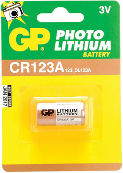 CR123A 3V Lithium Cylindrical Battery
