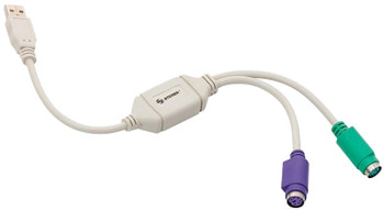 """Steren USB A-Male to 2 x PS/2 Female """"Y"""" Cable"""