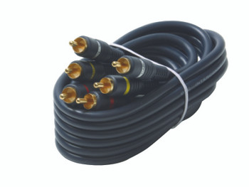 Steren 75-ft. 3-RCA to 3-RCA Composite Video/Audio Cable