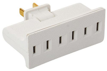 Steren 3-Outlet AC Adapter with Swivel Plug