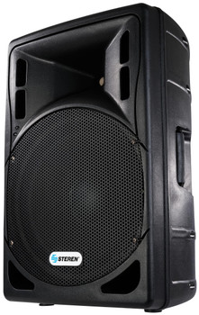 Speaker 15in Amplified with Crossover and USB/SD Reader with Multicolor Lights 3200 Watts PMPO