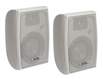 500 Watt 2-Way Indoor/Outdoor Speaker Pair White