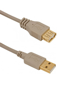 Steren 6 ft USB A-Male to A-Female Extension Cable with Gold Contacts
