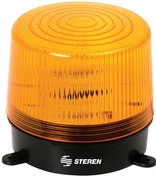 Steren 6-12V DC Flashing Strobe Light - Yellow