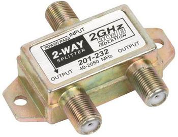 Steren 2-Way 2.4GHz 90dB 1 Port Power Pass Splitter