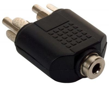 Steren 2-RCA Plugs to 1-Jack 3.5mm Stereo Adapter