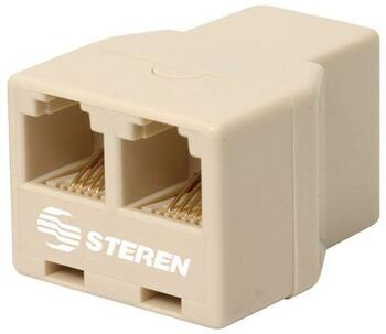 Steren Modular 4C Telephone T-Adapter Jack-Jack-Jack