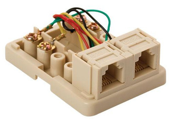 Steren Telephone 4C Dual Surface Jack